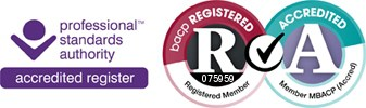 Logo showing Fiona Whiteman registration and accreditation logo